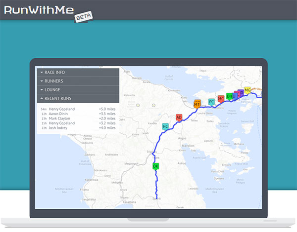RunWithMe – runwme.com – challenge your friends to a virtual running race